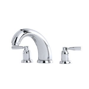 "3855 Perrin & Rowe 7"" Three Hole Bath Tap Set Lever"